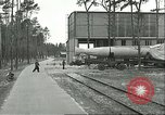 Image of A-4 missile towed for simulated launch at Test Stand 5 Peenemunde Germany, 1943, second 21 stock footage video 65675062547
