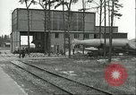 Image of A-4 missile towed for simulated launch at Test Stand 5 Peenemunde Germany, 1943, second 24 stock footage video 65675062547