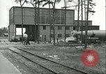 Image of A-4 missile towed for simulated launch at Test Stand 5 Peenemunde Germany, 1943, second 25 stock footage video 65675062547