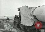 Image of A-4 missile towed for simulated launch at Test Stand 5 Peenemunde Germany, 1943, second 27 stock footage video 65675062547