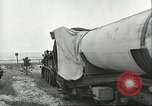 Image of A-4 missile towed for simulated launch at Test Stand 5 Peenemunde Germany, 1943, second 28 stock footage video 65675062547