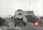 Image of A-4 missile towed for simulated launch at Test Stand 5 Peenemunde Germany, 1943, second 32 stock footage video 65675062547