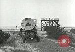 Image of A-4 missile towed for simulated launch at Test Stand 5 Peenemunde Germany, 1943, second 33 stock footage video 65675062547