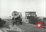Image of A-4 missile towed for simulated launch at Test Stand 5 Peenemunde Germany, 1943, second 34 stock footage video 65675062547