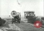 Image of A-4 missile towed for simulated launch at Test Stand 5 Peenemunde Germany, 1943, second 35 stock footage video 65675062547