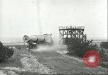 Image of A-4 missile towed for simulated launch at Test Stand 5 Peenemunde Germany, 1943, second 36 stock footage video 65675062547