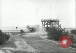 Image of A-4 missile towed for simulated launch at Test Stand 5 Peenemunde Germany, 1943, second 40 stock footage video 65675062547
