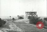 Image of A-4 missile towed for simulated launch at Test Stand 5 Peenemunde Germany, 1943, second 41 stock footage video 65675062547