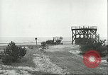Image of A-4 missile towed for simulated launch at Test Stand 5 Peenemunde Germany, 1943, second 45 stock footage video 65675062547