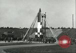 Image of A-4 missile Peenemunde Germany, 1943, second 25 stock footage video 65675062550