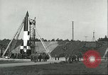 Image of A-4 missile Peenemunde Germany, 1943, second 37 stock footage video 65675062550