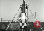 Image of A-4 missile Peenemunde Germany, 1943, second 61 stock footage video 65675062550