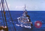 Image of Destroyer USS Frazier, DD-607 Tarawa Gilbert Islands, 1944, second 39 stock footage video 65675062566