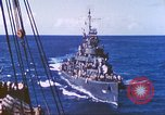 Image of Destroyer USS Frazier, DD-607 Tarawa Gilbert Islands, 1944, second 47 stock footage video 65675062566