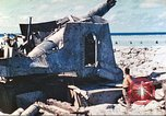 Image of Japanese coastal defense gun Tarawa Gilbert Islands, 1944, second 17 stock footage video 65675062569