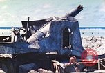 Image of Japanese coastal defense gun Tarawa Gilbert Islands, 1944, second 25 stock footage video 65675062569