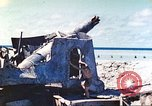 Image of Japanese coastal defense gun Tarawa Gilbert Islands, 1944, second 27 stock footage video 65675062569