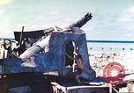 Image of Japanese coastal defense gun Tarawa Gilbert Islands, 1944, second 28 stock footage video 65675062569