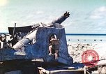 Image of Japanese coastal defense gun Tarawa Gilbert Islands, 1944, second 30 stock footage video 65675062569