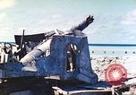 Image of Japanese coastal defense gun Tarawa Gilbert Islands, 1944, second 36 stock footage video 65675062569