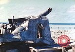 Image of Japanese coastal defense gun Tarawa Gilbert Islands, 1944, second 37 stock footage video 65675062569