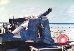 Image of Japanese coastal defense gun Tarawa Gilbert Islands, 1944, second 38 stock footage video 65675062569