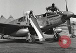 Image of Ground crewmwn servicing P-51s of the 332nd Fighter Group Termoli Italy, 1944, second 8 stock footage video 65675062602