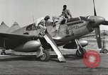 Image of Ground crewmwn servicing P-51s of the 332nd Fighter Group Termoli Italy, 1944, second 11 stock footage video 65675062602