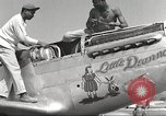 Image of Ground crewmwn servicing P-51s of the 332nd Fighter Group Termoli Italy, 1944, second 22 stock footage video 65675062602