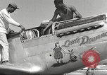 Image of Ground crewmwn servicing P-51s of the 332nd Fighter Group Termoli Italy, 1944, second 24 stock footage video 65675062602