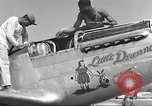 Image of Ground crewmwn servicing P-51s of the 332nd Fighter Group Termoli Italy, 1944, second 25 stock footage video 65675062602