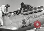Image of Ground crewmwn servicing P-51s of the 332nd Fighter Group Termoli Italy, 1944, second 26 stock footage video 65675062602