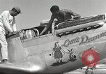 Image of Ground crewmwn servicing P-51s of the 332nd Fighter Group Termoli Italy, 1944, second 27 stock footage video 65675062602