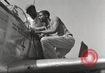 Image of Ground crewmwn servicing P-51s of the 332nd Fighter Group Termoli Italy, 1944, second 46 stock footage video 65675062602