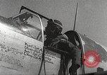 Image of 332nd Fighter Group P-51s take off on a mission Termoli Italy, 1944, second 56 stock footage video 65675062609