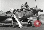 Image of Ground Crewmen of 332nd Fighter Group maintain P-51s Termoli Italy, 1944, second 9 stock footage video 65675062615