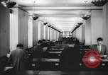 Image of FBI fingerprint library Washington DC USA, 1936, second 24 stock footage video 65675062630