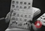 Image of FBI fingerprint library Washington DC USA, 1936, second 37 stock footage video 65675062630