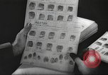 Image of FBI fingerprint library Washington DC USA, 1936, second 40 stock footage video 65675062630