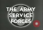 Image of The American Army Service forces European Theater, 1943, second 7 stock footage video 65675062661