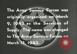 Image of The American Army Service forces European Theater, 1943, second 21 stock footage video 65675062661