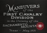 Image of 1st Cavalry Division Texas Sacramento Mountains USA, 1931, second 6 stock footage video 65675062665