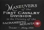 Image of 1st Cavalry Division Texas Sacramento Mountains USA, 1931, second 7 stock footage video 65675062665