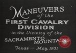 Image of 1st Cavalry Division Texas Sacramento Mountains USA, 1931, second 13 stock footage video 65675062665