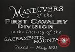 Image of 1st Cavalry Division Texas Sacramento Mountains USA, 1931, second 15 stock footage video 65675062665