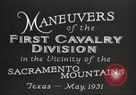 Image of 1st Cavalry Division Texas Sacramento Mountains USA, 1931, second 17 stock footage video 65675062665