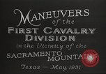 Image of 1st Cavalry Division Texas Sacramento Mountains USA, 1931, second 21 stock footage video 65675062665
