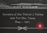 Image of Patrick J Hurley Fort Bliss Texas USA, 1931, second 5 stock footage video 65675062673