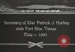 Image of Patrick J Hurley Fort Bliss Texas USA, 1931, second 7 stock footage video 65675062673