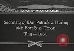 Image of Patrick J Hurley Fort Bliss Texas USA, 1931, second 11 stock footage video 65675062673